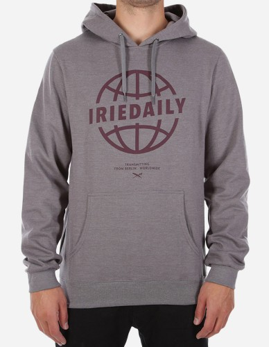 iriedaily - Globedaily Hooded charc mel