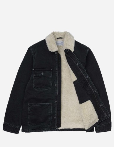 Carhartt WIP - Fairmount Coat black stone washed