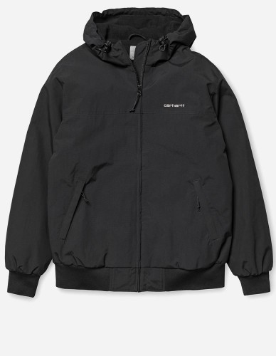 Carhartt WIP - Hooded Sail Jacket black white