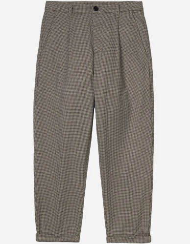 Carhartt WIP - W' Pullman Ankle Pant lewis houndstooth, hamilton brown rigid