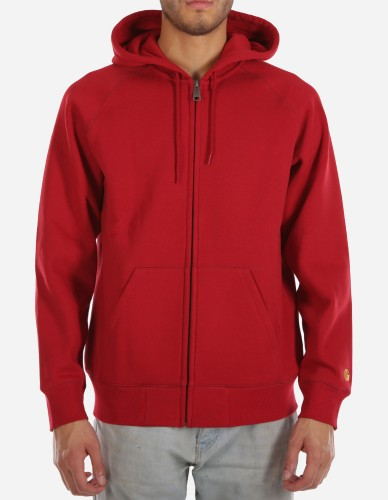Carhartt WIP - Hooded Chase Jacket blast red/gold