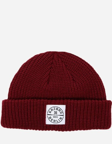 Depot2 Berlin - Dock Beanie Bat Stamp burgundy / white