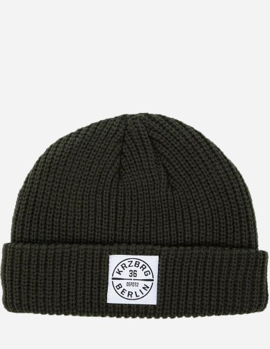 Depot2 Berlin - Dock Beanie Bat Stamp olive / white