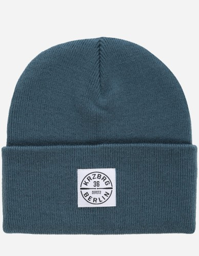 Depot2 Berlin - Bat Stamp Beanie air force blue / white