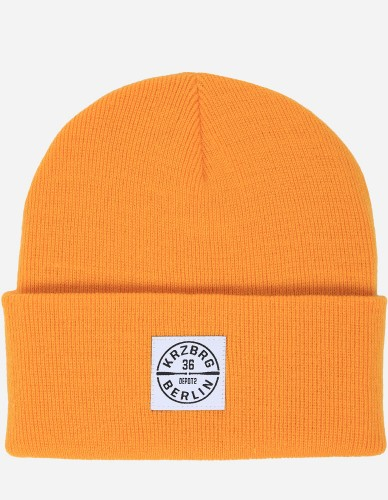 Depot2 Berlin - Bat Stamp Beanie gold / white