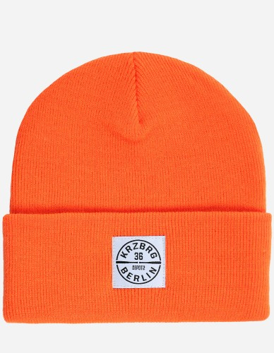 Depot2 Berlin - Bat Stamp Beanie neon orange / white