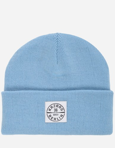 Depot2 Berlin - Bat Stamp Beanie sky blue / white