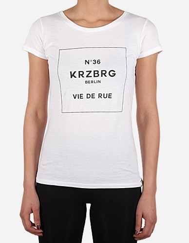 Depot2 Berlin - No 36 Kreuzberg Girl Tee white black