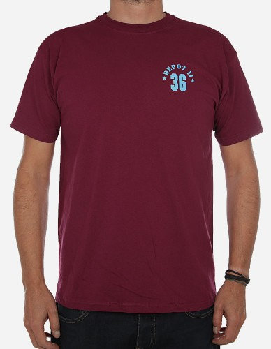 Depot2 Berlin - Original Kreuzberg 36 T-Shirt burgundy blue