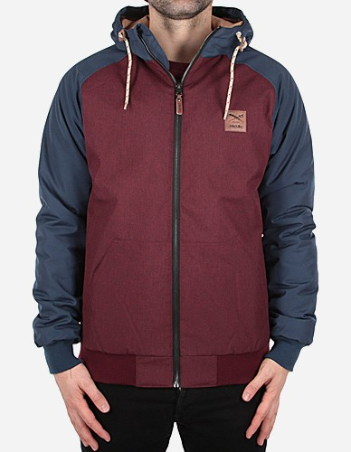 iriedaily - Another Flag Jacket maroon mel