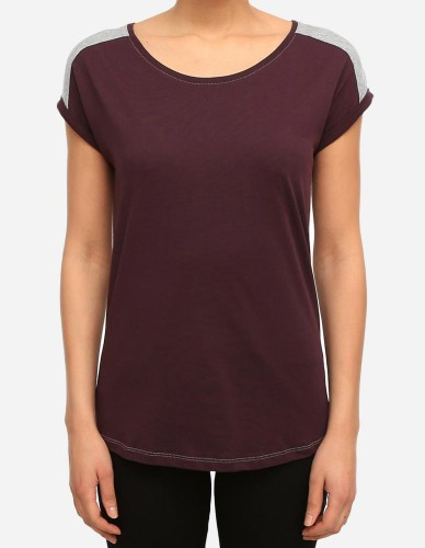 iriedaily - Backside Tee aubergine