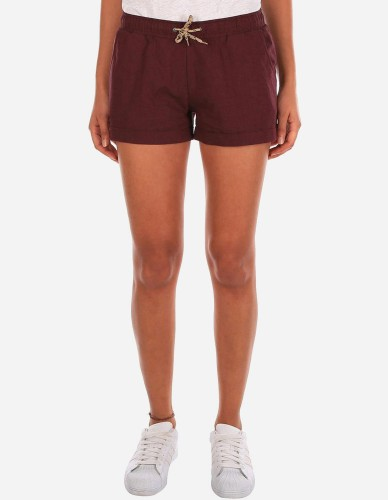 iriedaily - Chambray Girl Short maroon mel.