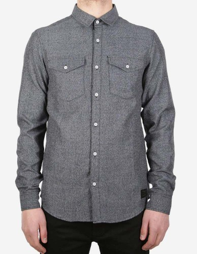 iriedaily - City Fella Shirt greyblue