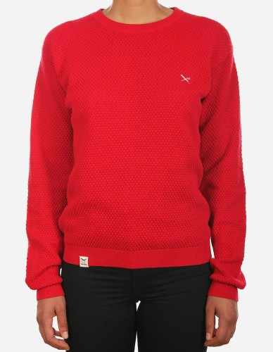 iriedaily - Comb Knit scarlet red