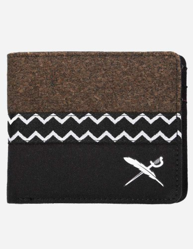iriedaily - Cork Mix Wallet black