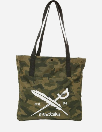 iriedaily - Gridstop Shopper camou olive