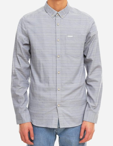 iriedaily - La Banda City LS Shirt greyblue