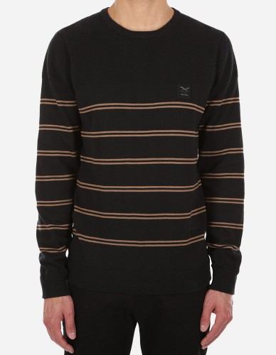 iriedaily - Striped Seed Knit cara black