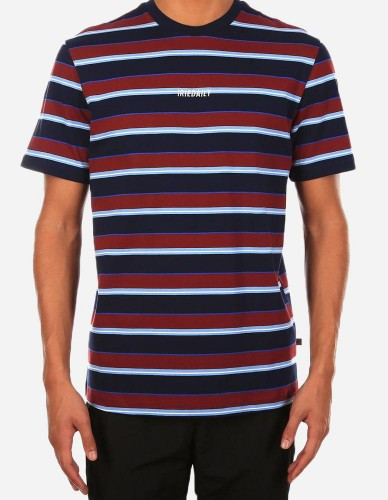 iriedaily - Tony Stripe Tee navy red