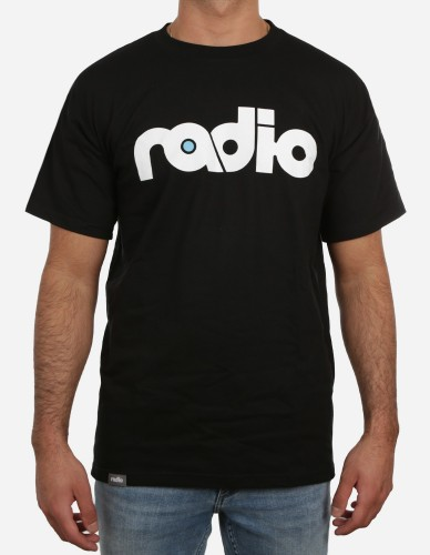 radio skateboards - OG Logo Tee black white