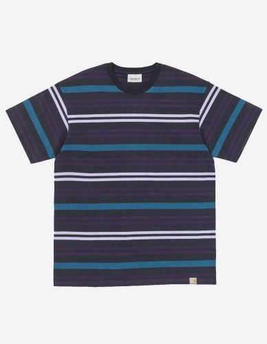 Carhartt WIP - S/S Kress T-Shirt kress stripe / dark navy