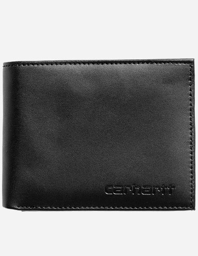 Carhartt WIP - Rock-It Leather Wallet black